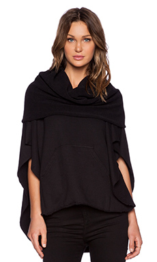 OAK Funnel Neck Poncho in Black