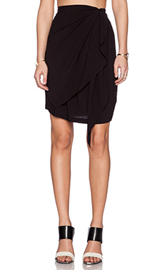 OAK Side Panel Skirt in Black