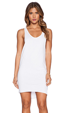 OAK Long Side Cowl Tank in White