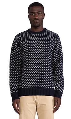 Obey York Sweater in Navy