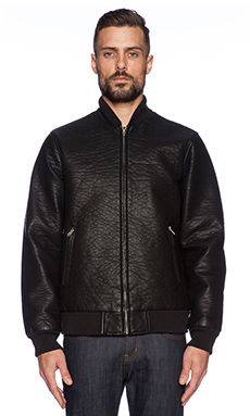 Obey Bond Vegan Leather Jacket in Black