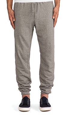Obey Reid Fleece Pant in Heather Grey
