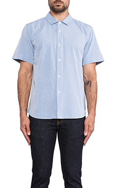Obey Dissent Chambray Button Down in Blue