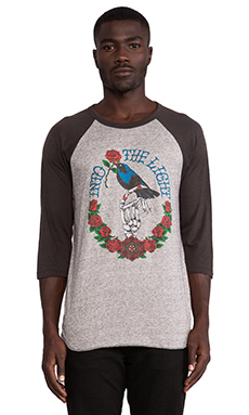 Obey Blackbird Raglan in Heather Grey & Graphite