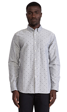 Obey Boyle Button Down in Grey