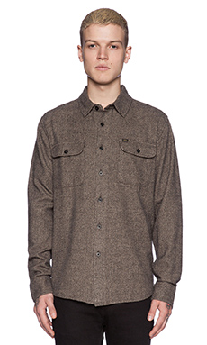 Obey Hayward Button Down in Grey