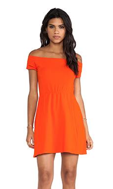 Obey Rockaway Train Dress in Red Orange