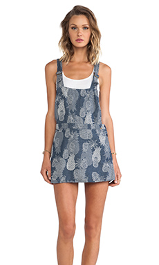 Obey Denton Dress in Indigo