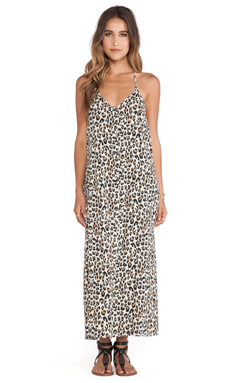 Obey Tyler Dress in Leopard