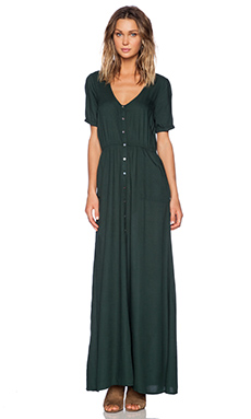 Obey Jane Street Dress in Emerald