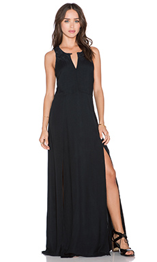 Obey Amaya Maxi Dress in Dusty Black
