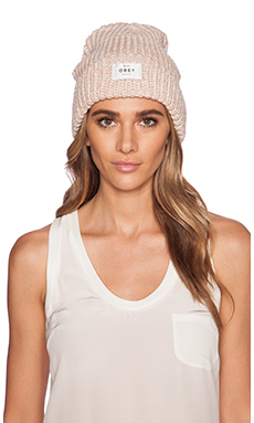 Obey Maywood Beanie in Blush