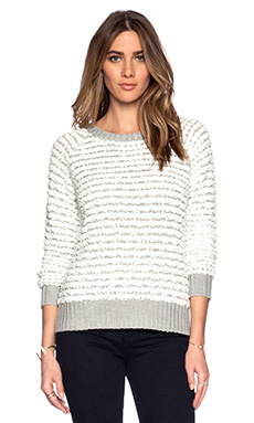 Obey Marais Raglan Sweater in Cloud Dancer