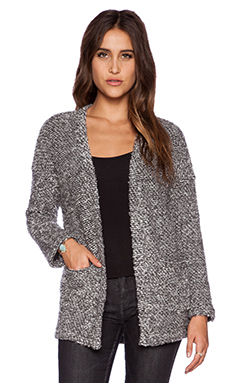Obey Shelter Cardigan in Heather Grey