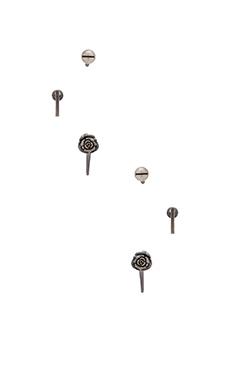 Obey Felix Earring Pack in Silver