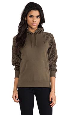 Obey Highland Sweatshirt in Army & Leopard