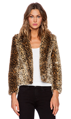 Obey Charlotte Faux Fur Jacket in Leopard