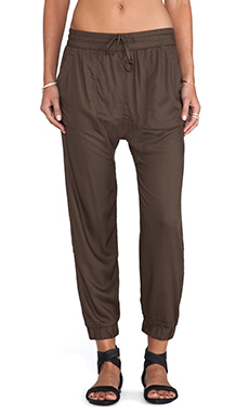 Obey Outside Trouser in Olive