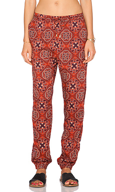 Obey Sofia Pant in Burgundy Multi