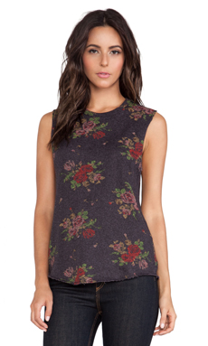 Obey Echo Mountain Tank in Heather Black Floral