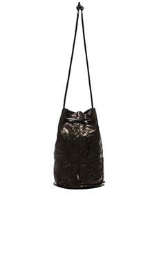 Obey x Los Angeles Leather Craft Rosyln Bucket Bag in Black