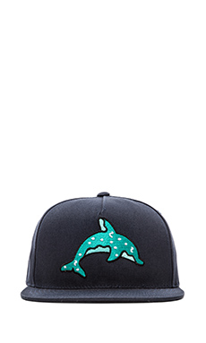 Odd Future Dolphin Donut Cap in Navy