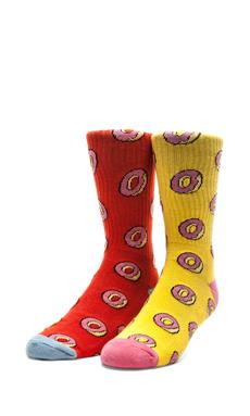 Odd Future All Over Donut Socks in Red, All Over Donut Socks in Yellow