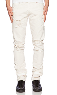OFF-WHITE Striped Bull Denim Jean in Off White