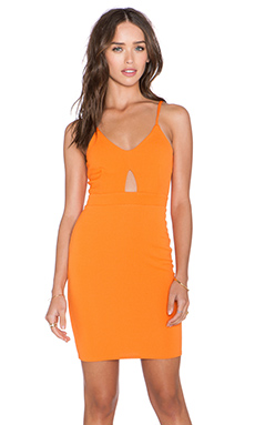 OH MY LOVE Keyhole Mini Dress in Burnt Orange Diamond