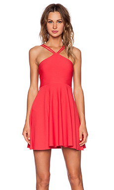 OH MY LOVE Skater Dress in Raspberry Diamond