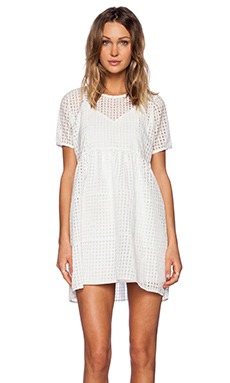 OH MY LOVE Babydoll Mini Dress in White