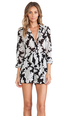 OH MY LOVE Playsuit in Mono Floral
