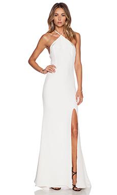 OLCAY GULSEN Halter Gown in White