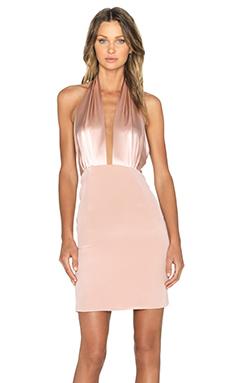OLCAY GULSEN V Neck Dress in Nude
