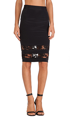 OLCAY GULSEN Skirt Combi in Black