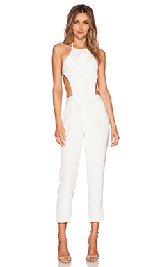 OLCAY GULSEN Exposed Top Jumpsuit in White