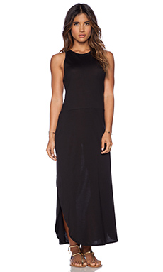 OLYMPIA Activewear Santorini Maxi Dress in Jet