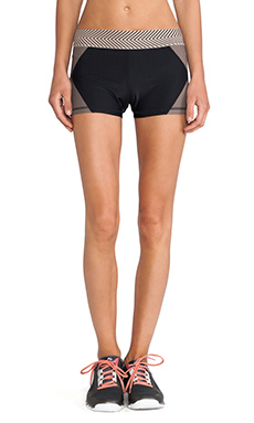 OLYMPIA Activewear Xena Hot Short in Black/Taupe