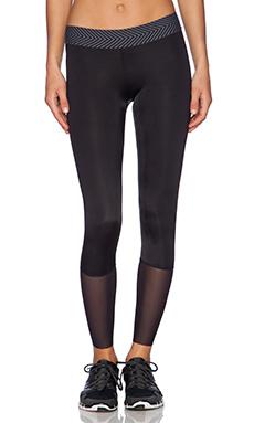 OLYMPIA Activewear Phoenix 3/4 Legging in Jet & Jet Mesh