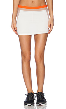 OLYMPIA Activewear Naia Tennis Skirt in Bone & Nude Mesh