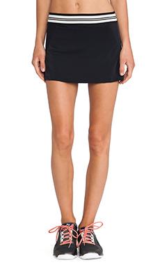 OLYMPIA Activewear Naia Tennis Skirt in Black Mesh