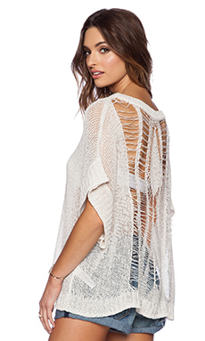 OndadeMar Light Glam Sweater in White