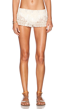 OndadeMar Lace Short in White Boheme