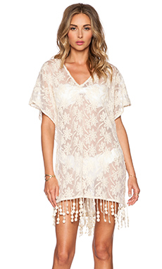OndadeMar Lace Caftan in White Boheme
