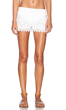 OndadeMar Eyelet Short in White Boheme