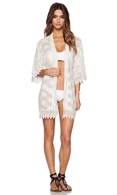 OndadeMar Light Glam Kimono in White