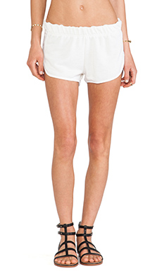 One Teaspoon Wagoneer Running Shorts in Cream