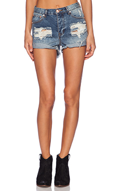 One Teaspoon Hawks Jean Short in Ford