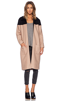 One Teaspoon Buffalo Coat in Black & Camel