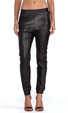 One Teaspoon Leather trackies in Black